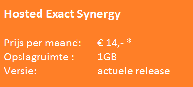 Prijs Hosted Exact Synergy